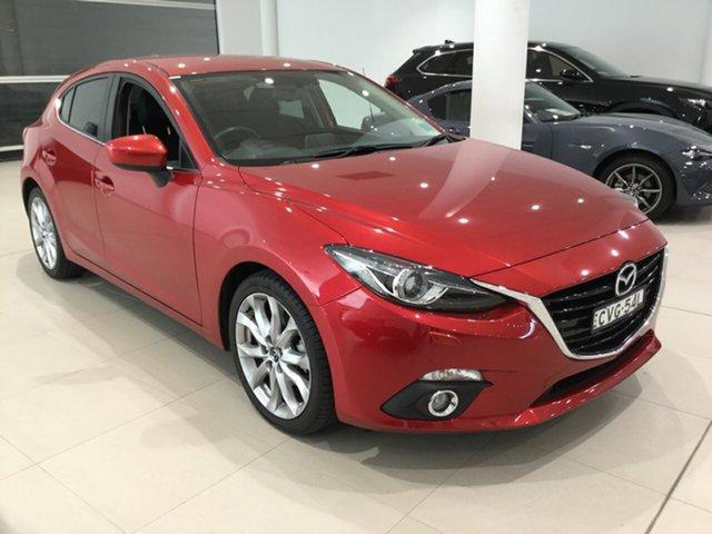 Used Mazda 3 BM5438 SP25 SKYACTIV-Drive GT, 2014 Mazda 3 BM5438 SP25 SKYACTIV-Drive GT Red/Black 6 Speed Sports Automatic Hatchback