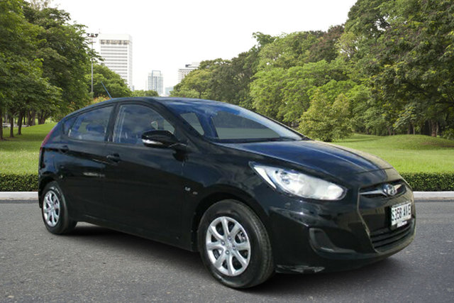 Used Hyundai Accent RB Active, 2012 Hyundai Accent RB Active Black 4 Speed Sports Automatic Hatchback