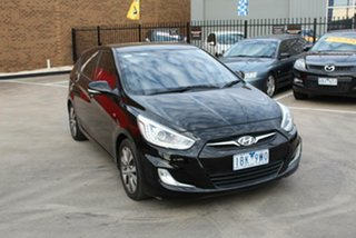 2013 Hyundai Accent RB3 SR Black 6 Speed Automatic Hatchback.