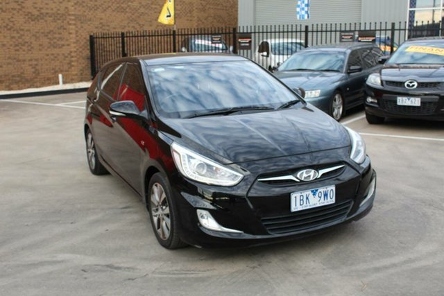 Used Hyundai Accent RB3 SR, 2013 Hyundai Accent RB3 SR Black 6 Speed Automatic Hatchback