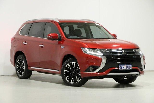 Used Mitsubishi Outlander ZK MY16 PHEV Exceed, 2015 Mitsubishi Outlander ZK MY16 PHEV Exceed Red 1 Speed Automatic Wagon