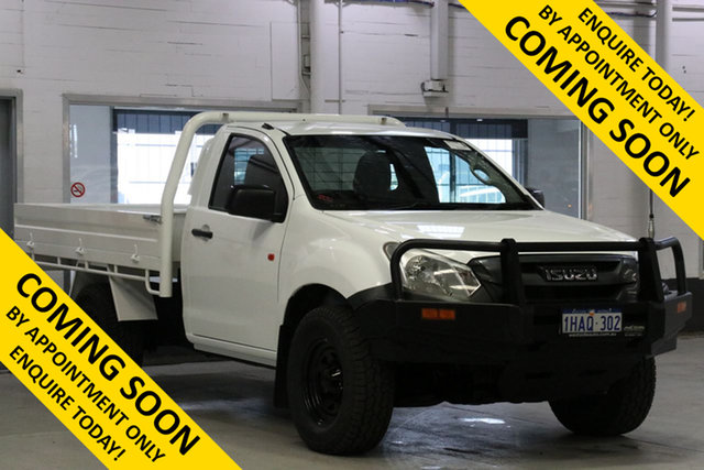 Used Isuzu D-MAX TF MY17 SX (4x4), 2017 Isuzu D-MAX TF MY17 SX (4x4) White 6 Speed Manual Cab Chassis