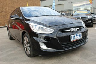 2013 Hyundai Accent RB3 SR Black 6 Speed Automatic Hatchback