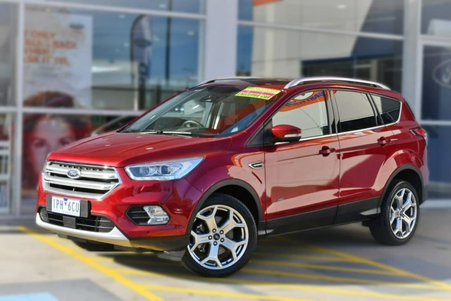Used Ford Escape ZG 2019.25MY Titanium AWD, 2019 Ford Escape ZG 2019.25MY Titanium AWD Red 6 Speed Sports Automatic Wagon