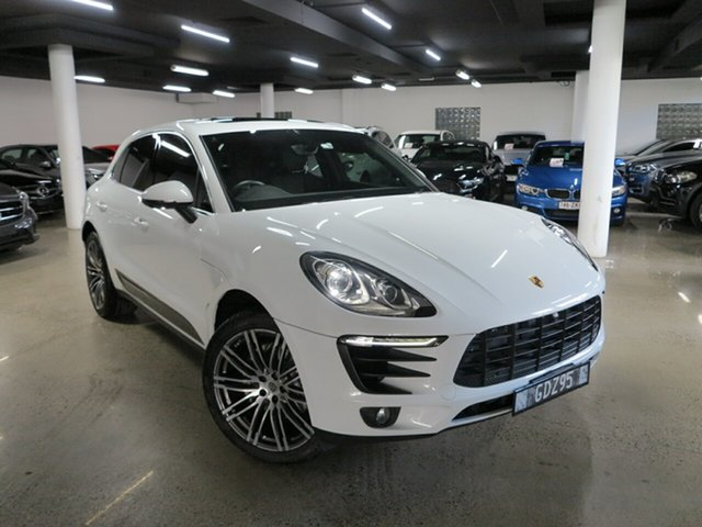 Used Porsche Macan 95B MY16 S PDK AWD Diesel, 2015 Porsche Macan 95B MY16 S PDK AWD Diesel White 7 Speed Sports Automatic Dual Clutch Wagon