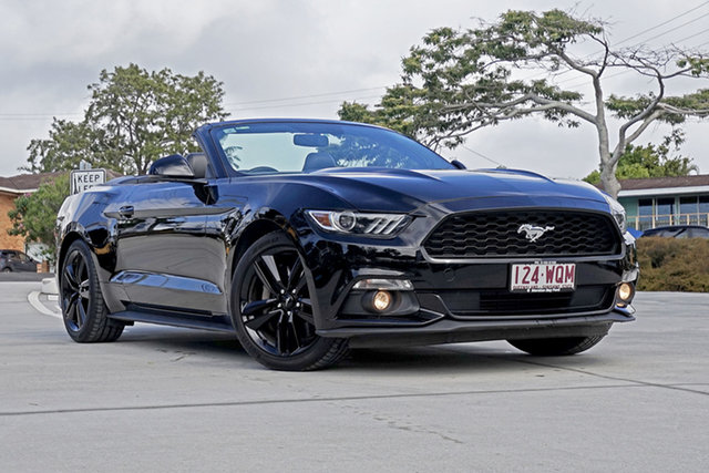 Used Ford Mustang FM SelectShift, 2016 Ford Mustang FM SelectShift Black 6 Speed Sports Automatic Convertible