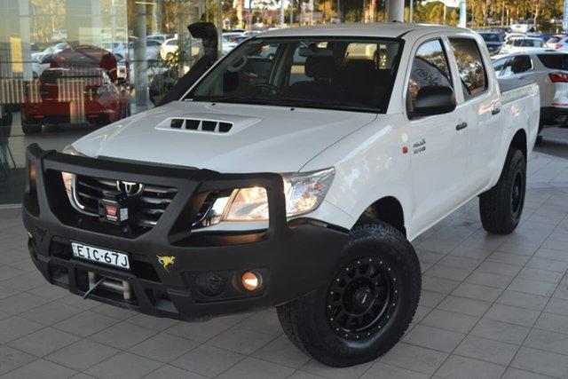Used Toyota Hilux KUN26R MY14 SR Double Cab, 2015 Toyota Hilux KUN26R MY14 SR Double Cab White 5 Speed Automatic Utility