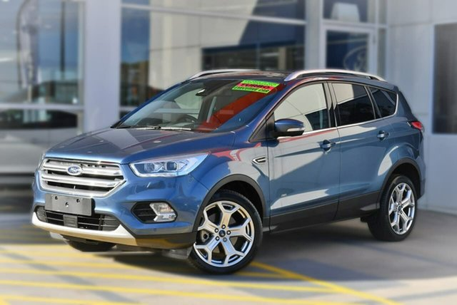 Used Ford Escape ZG 2019.25MY Titanium PwrShift AWD, 2019 Ford Escape ZG 2019.25MY Titanium PwrShift AWD Blue 6 Speed Sports Automatic Dual Clutch Wagon