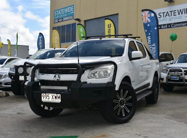 Used Holden Colorado RG LX (4x4), 2012 Holden Colorado RG LX (4x4) White 5 Speed Manual Crew Cab Pickup