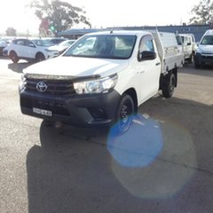 2018 Toyota Hilux GUN122R Workmate 4x2 White 5 Speed Manual Cab Chassis.