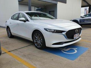 2019 Mazda 3 BP G25 Evolve White 6 Speed Automatic Sedan