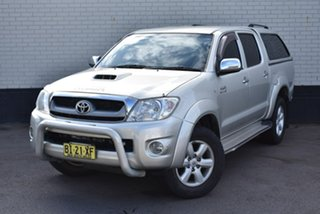 2010 Toyota Hilux KUN26R MY10 SR5 Silver 4 Speed Automatic Utility.