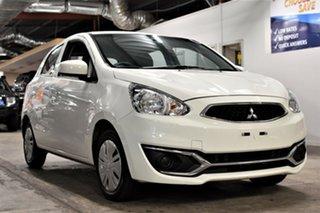 2018 Mitsubishi Mirage LA MY19 ES White 1 Speed Constant Variable Hatchback.