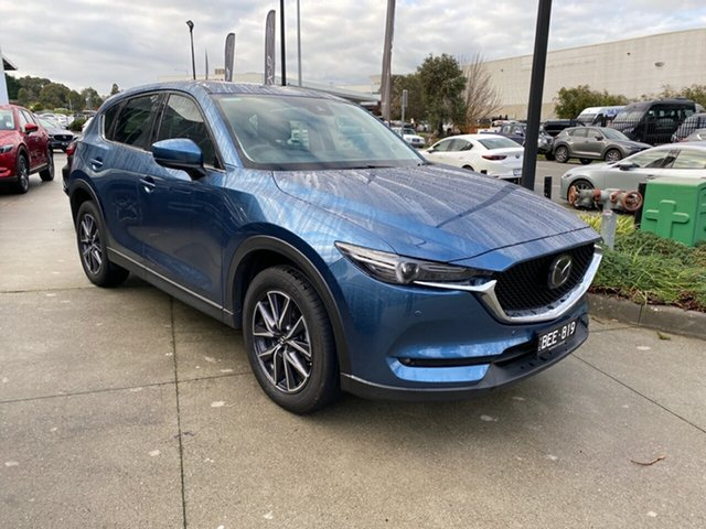 Demo Mazda CX-5 KF4WLA GT SKYACTIV-Drive i-ACTIV AWD, 2019 Mazda CX-5 CX-5 GT SKYACTIV-Drive i-ACTIV AWD Eternal Blue 6 Speed Sports Automatic Wagon