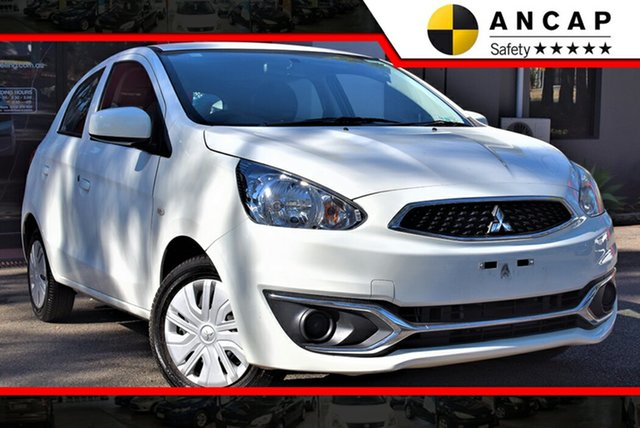 Used Mitsubishi Mirage LA MY19 ES, 2018 Mitsubishi Mirage LA MY19 ES White 1 Speed Constant Variable Hatchback