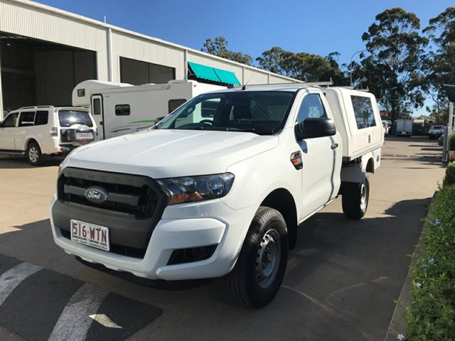 Used Ford Ranger PX MkII XL 4x2 Hi-Rider, 2016 Ford Ranger PX MkII XL 4x2 Hi-Rider Cool White 6 speed Automatic Cab Chassis