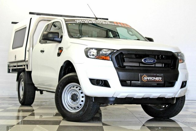 Used Ford Ranger PX MkII XL 2.2 Hi-Rider (4x2), 2015 Ford Ranger PX MkII XL 2.2 Hi-Rider (4x2) White 6 Speed Automatic Super Cab Chassis