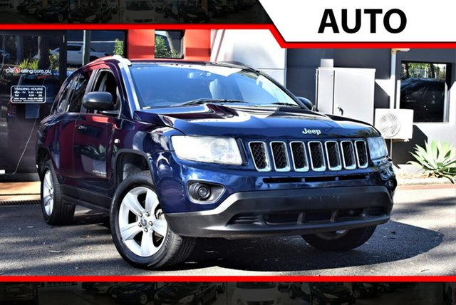 Used Jeep Compass MK MY12 Sport CVT Auto Stick, 2012 Jeep Compass MK MY12 Sport CVT Auto Stick Metallic Blue 6 Speed Constant Variable Wagon