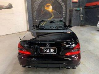 2008 Mercedes-Benz SL-Class R230 MY09 SL63 AMG SPEEDSHIFT MCT Black 7 Speed Sports Automatic