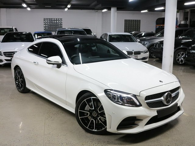 Used Mercedes-Benz C-Class C205 800+050MY C300 9G-Tronic, 2019 Mercedes-Benz C-Class C205 800+050MY C300 9G-Tronic White 9 Speed Sports Automatic Coupe