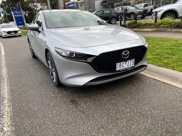 Demo Mazda 3 BP2H7A G20 SKYACTIV-Drive Evolve, 2019 Mazda 3 Mazda3 G20 SKYACTIV-Drive Evolve Sonic Silver 6 Speed Sports Automatic Hatchback