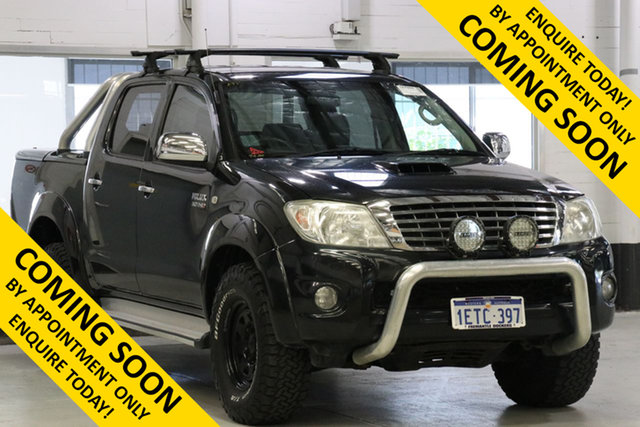 Used Toyota Hilux KUN26R MY11 Upgrade SR5 (4x4), 2010 Toyota Hilux KUN26R MY11 Upgrade SR5 (4x4) Black 4 Speed Automatic Dual Cab Pick-up
