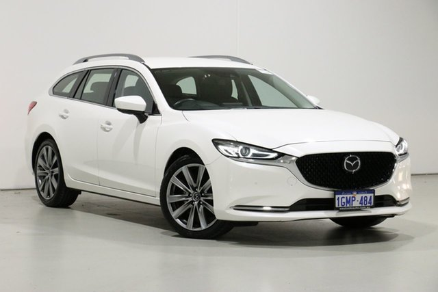Demo Mazda 6 6C MY18 (gl) GT, 2018 Mazda 6 6C MY18 (gl) GT Pearl White 6 Speed Automatic Wagon