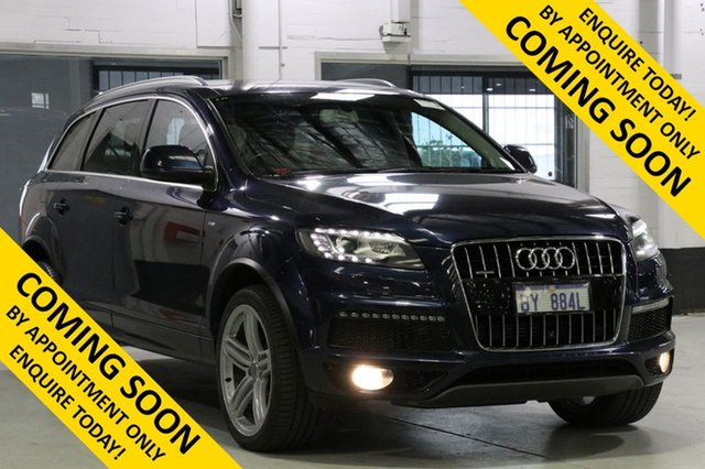 Demo Audi Q7 MY14 3.0 TDI Quattro, 2014 Audi Q7 MY14 3.0 TDI Quattro Blue 8 Speed Automatic Tiptronic Wagon