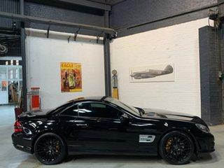 2008 Mercedes-Benz SL-Class R230 MY09 SL63 AMG SPEEDSHIFT MCT Black 7 Speed Sports Automatic.