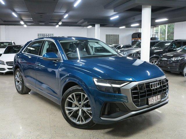 Used Audi Q8 4M MY20 55 TFSI Tiptronic Quattro, 2019 Audi Q8 4M MY20 55 TFSI Tiptronic Quattro Galaxy Blue 8 Speed Sports Automatic Wagon
