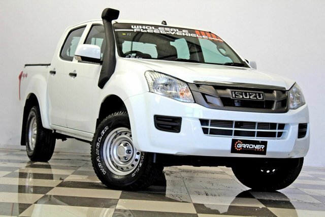 Used Isuzu D-MAX TF MY12 SX (4x4), 2014 Isuzu D-MAX TF MY12 SX (4x4) White 5 Speed Automatic Crew Cab Chassis