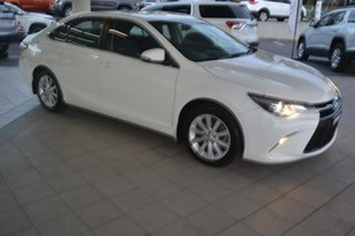 2015 Toyota Camry ASV50R Atara S White 6 Speed Sports Automatic Sedan.