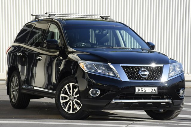Used Nissan Pathfinder R52 MY14 ST-L X-tronic 2WD, 2014 Nissan Pathfinder R52 MY14 ST-L X-tronic 2WD Black 1 Speed Constant Variable Wagon