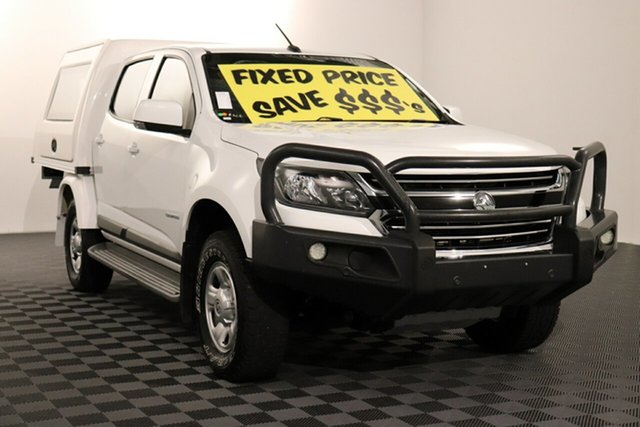 Used Holden Colorado RG MY18 LS Crew Cab 4x2, 2018 Holden Colorado RG MY18 LS Crew Cab 4x2 White 6 speed Automatic Cab Chassis
