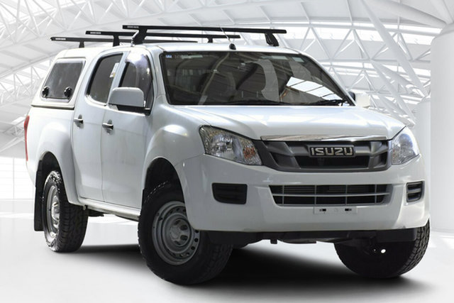 Used Isuzu D-MAX MY15 SX Crew Cab 4x2 High Ride, 2015 Isuzu D-MAX MY15 SX Crew Cab 4x2 High Ride Splash White 5 Speed Sports Automatic Cab Chassis