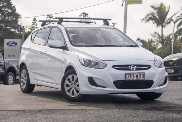 Used Hyundai Accent RB4 MY16 Active, 2016 Hyundai Accent RB4 MY16 Active White 6 Speed Constant Variable Hatchback