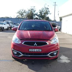 2016 Mitsubishi Mirage LA MY17 LS Red 1 Speed Constant Variable Hatchback.