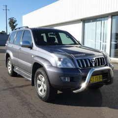 2007 Toyota Landcruiser Prado KDJ120R GXL Graphite 5 Speed Automatic Wagon.