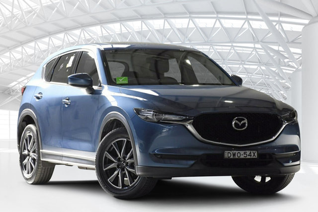 Used Mazda CX-5 MY17.5 (KF Series 2) GT (4x4), 2018 Mazda CX-5 MY17.5 (KF Series 2) GT (4x4) Blue 6 Speed Automatic Wagon