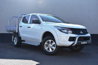 2017 Mitsubishi Triton MQ MY17 GLX+ Double Cab White 6 Speed Manual Utility.