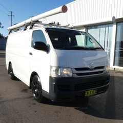 2009 Toyota HiAce KDH201R MY08 LWB White 5 Speed Manual Van.