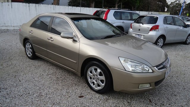 Used Honda Accord 7th Gen V6 Luxury, 2003 Honda Accord 7th Gen V6 Luxury Gold 5 Speed Automatic Sedan