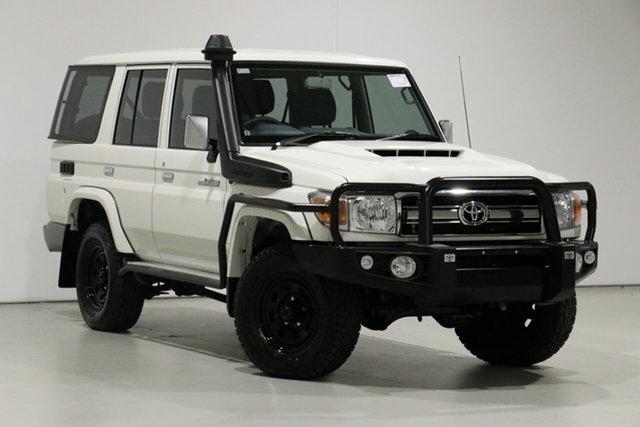Used Toyota Landcruiser VDJ76R MY18 GXL (4x4), 2019 Toyota Landcruiser VDJ76R MY18 GXL (4x4) White 5 Speed Manual Wagon