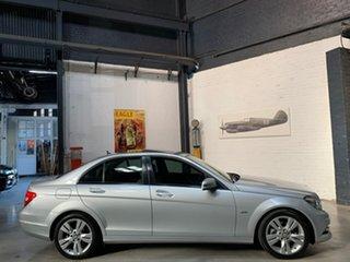 2011 Mercedes-Benz C-Class W204 MY11 C200 BlueEFFICIENCY 7G-Tronic + Avantgarde Silver 7 Speed.