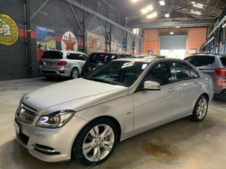2011 Mercedes-Benz C-Class W204 MY11 C200 BlueEFFICIENCY 7G-Tronic + Avantgarde Silver 7 Speed