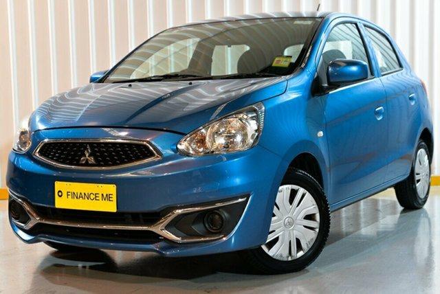 Used Mitsubishi Mirage LA MY18 ES, 2018 Mitsubishi Mirage LA MY18 ES Blue 1 Speed Constant Variable Hatchback