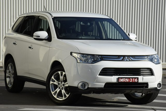 Used Mitsubishi Outlander ZJ MY13 Aspire 4WD, 2013 Mitsubishi Outlander ZJ MY13 Aspire 4WD White 6 Speed Constant Variable Wagon