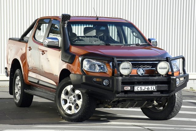 Used Holden Colorado RG MY15 Storm Crew Cab, 2014 Holden Colorado RG MY15 Storm Crew Cab Orange 6 Speed Manual Utility
