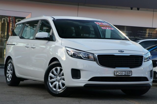 Used Kia Carnival YP MY18 S, 2018 Kia Carnival YP MY18 S Snow White Pearl 6 Speed Automatic Wagon