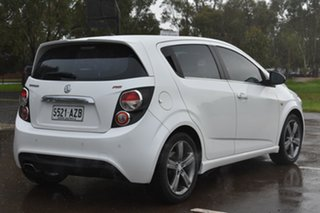 2013 Holden Barina TM MY14 RS White 6 Speed Sports Automatic Hatchback.